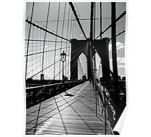 Brooklyn Bridge Lines and Shadows Poster