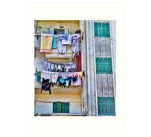 Hung out to dry........ Art Print