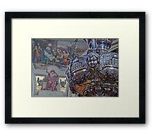 Mosta Church: Silver Votive Lamp Framed Print