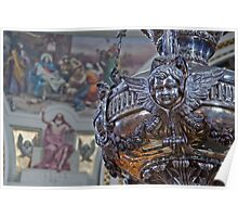 Mosta Church: Silver Votive Lamp Poster