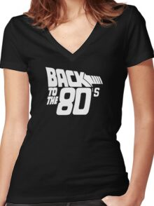 Back to the 80's,  Women's Fitted V-Neck T-Shirt