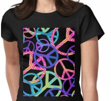 hipster peace signs Womens Fitted T-Shirt