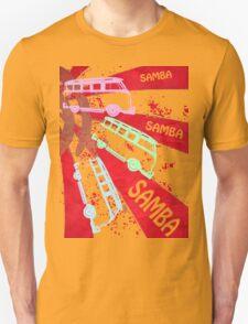 VW SAMBA SAMBA SAMBA Kombi Shirt - Red T-Shirt
