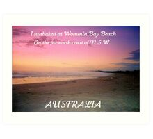 WOMMIN BAY BEACH ..POSTCARD Art Print