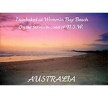 WOMMIN BAY BEACH ..POSTCARD Photographic Print