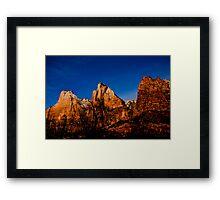 Three Peaks - Zion National Park Framed Print