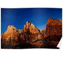 Three Peaks - Zion National Park Poster