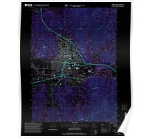USGS Topo Map Oregon Grants Pass 280073 1996 24000 Inverted Poster