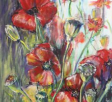 Poppies by christine purtle