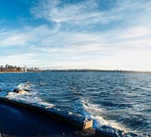 Bench Sunset View (panorama) by James Zickmantel