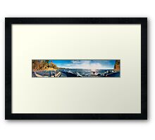 Bench Sunset View (panorama) Framed Print