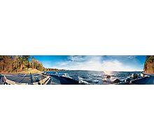 Bench Sunset View (panorama) Photographic Print