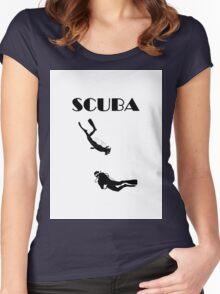 SCUBA T-Shirt Women's Fitted Scoop T-Shirt