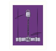 Hit Girl Frontal Art Print