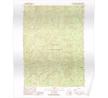 USGS Topo Map Oregon Fourth of July Creek 279937 1989 24000 Poster