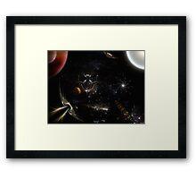 Race To Skull Nebula Brick Texture Framed Print