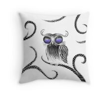 Owl let you hang around (white) Throw Pillow