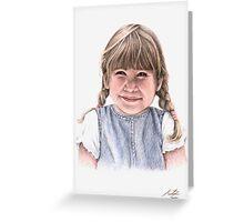 Sweet Little Girl Portrait Greeting Card