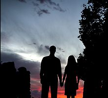 William & VitaJoie Hubbell, Sunset, Gillette Castle by LaineyDesign