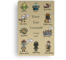 Know Your Lovecraft! Canvas Print