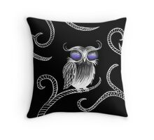 Owl let you hang around (black) Throw Pillow