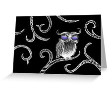 Owl let you hang around (black) Greeting Card