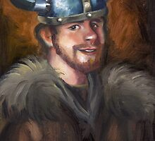 Zach got a Viking helmet by Lubna