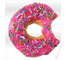 Dark Pink Doughnut Poster