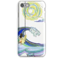 Surf Girl on a Swing Looking Out Over the Ocean iPhone Case/Skin
