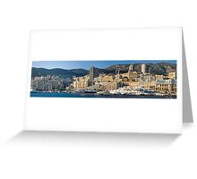 Monaco Marina Panorama Greeting Card