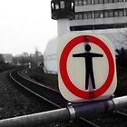 stop. prison ahead. justizanstalt stein. by tguerrero