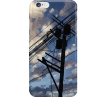 blue sky telephone wires iPhone Case/Skin