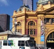 Flinders Street Station and Melbourne tram Sticker