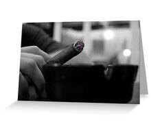 Black & White Stogie Greeting Card
