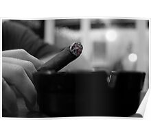 Black & White Stogie Poster