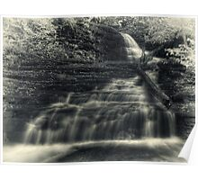 Huron Falls (faux vintage) Poster