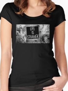 Strange Is Life Women's Fitted Scoop T-Shirt
