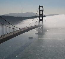 Misty morning on Golden Gate Bridge , San Francisco by LynnEngland