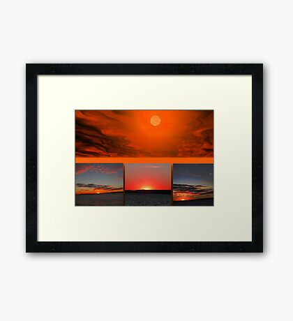 The Sun Also Sets Framed Print