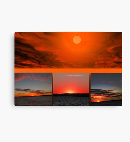 The Sun Also Sets Canvas Print