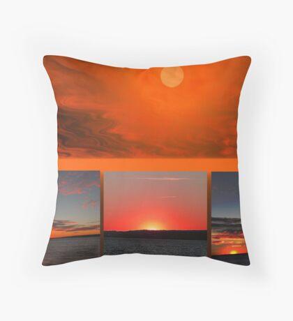 The Sun Also Sets Throw Pillow