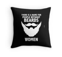 BEARDS PRINTED Throw Pillow