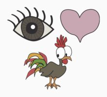 Eye Heart Rooster by Cock-a-doodle