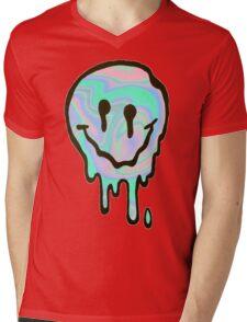 Hologram Smile Mens V-Neck T-Shirt