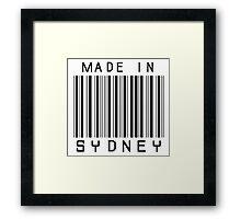 Made in Sydney Framed Print