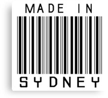 Made in Sydney Canvas Print
