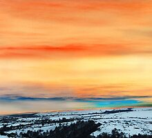 glowering winter landscape by Anna Goodchild