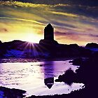 Silhouettes Of Smailholm, Scotland by Aj Finan