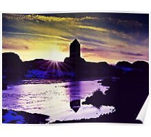 Silhouettes Of Smailholm, Scotland Poster