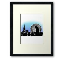 Batman in the city Framed Print